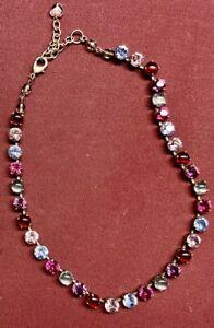 Sabika Jewelry Very Rare Early Pink, Red, Purple, Blue Feminine Choker Necklace