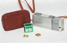 KIEV VEGA Russian 16mm mini camera USSR Vintage Spy KGB w/ film case 1960s
