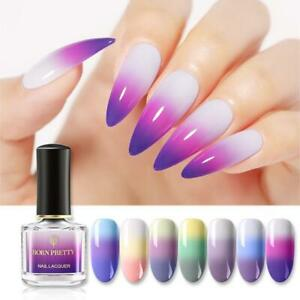 BORN PRETTY Color Changing Nail Polish Glitter Thermal Thermochromic Liquid Nail