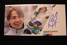 Card BMW Motorsport Team RBM Castrol Edge DTM 2014 #3 Augusto Farfus (BRA) Sign