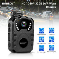 BOBLOV Police Body Camera 1080P Built in 32GB for Security Monitoring Recorder