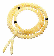 Genuine Baltic Amber Buddhist Mala Bracelet Mila 108 Beads 6mm Prayer Butter 15g