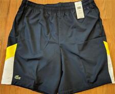 Mens Authentic Lacoste Sport Taffeta Athletic Shorts Navy/Gold/White 8 3XL $80