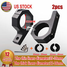 """2x 1"""" & 1.5"""" inch Bull Bar Roll Cage LED Light Mounting Bracket Clamp Offroad"""