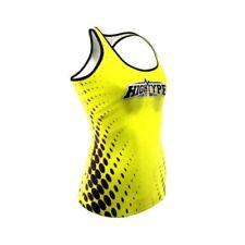 Abbigliamento sportivo da donna gialli senza maniche poliestere