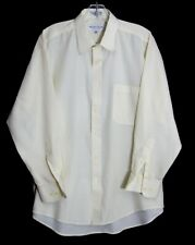 MONSIEUR GIVENCHY PALE YELLOW CLASSIC FIT LONG SLEEVE BUTTON SHIRT 16 1/2 32/33