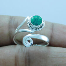 925 Sterling Silver Turquoise Adjustable Toe Ring tr-301
