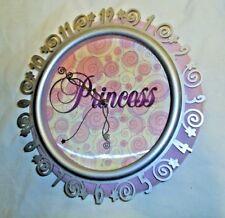 Wall Clock 3D Face Princess Diva Pink Girls