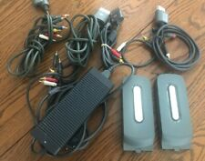 Xbox 360 Lot Bundle Composite Component Audio Video Cables Hard Drive HDD Power