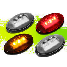 FOR 99-10 FORD SUPER DUTY DUALLY FENDER LED SIDE MARKER LIGHT CLEAR 06 07 08 09