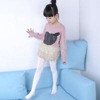 Enfants Fille Collant Opaque Souple Ballet Chaude Danse Classique Chausettes