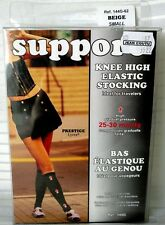 Womens Knee High Compression Stockings Support Gradual 25-30 mmHg Elastic ITALY