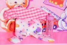 Barbie Baby Krissy Doll 1 piece pajamas Baby Outfit Clothes Bottle Accessory Lot