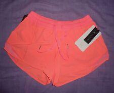 Women Lululemon Hotty Hot Short Long Grapefruit Size 8 NWT $58 Run Yoga