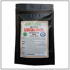 Meistverkauft Pure Ubiquinol 200mg Softgel Für eine Gesunde Herz – GOVITAMINS