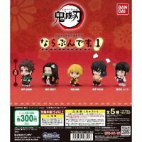 Demon Slayer Kimetsu Narabundesu 1 Mini figure all 5 types set Capsule toy NEW
