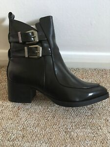 Black Boots With Buckle, Size 4. brand new No box