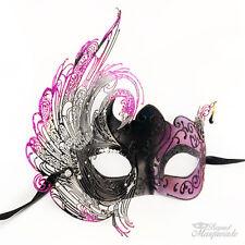 Purple & Black 3D Elegant Women Masquerade Party Halloween Mardi Gras Mask