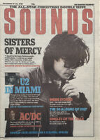 Sounds Music Magazine 19/36 December 1987 Sisters Of Mercy, U2, AC/DC,