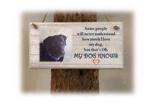 PERSONALISED PLAQUE, SIGN. PHOTO & QUOTE. Love My Dog. Gift