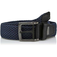 NIKE GOLF MEN'S G-FLEX STRETCH WOVEN BELT SIZE: W32 (FITS 30)  ARMORY NAVY 19189