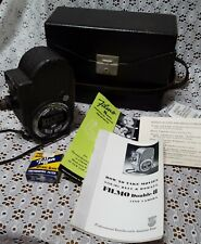 Vintage Bell & Howell Filmo Sportster Movie Camera w/Case,Manual & Filter