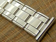 Vintage NOS Unused Stainless Steel Watch Band Mens Expansion 16mm Straight Lug