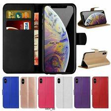 Libro De Cuero Iphone abatible billetera Cubierta Estuche para todos los modelos de iPhone