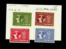INDIA 1949 UPU 4v FINE MINT STAMPS #223-6 CV $14.50