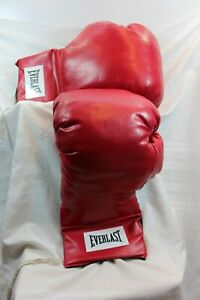 """EVERLAST  Set of Two GIANT BOXING GLOVES 23"""" Collectors Item Red Leather"""