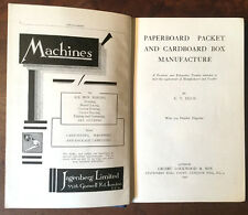 1931 - Paperboard  Packet  and  Cardboard Box Manufacture