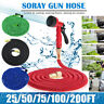 200FT Water Magic Hose Pipe Expanding Expandable Flexible Garden Car Spray Gun