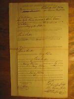 1803 NC BOND WATERMARK 1st SHERIFF CHATHAM COUNTY ELISHA CAIN REVOLUTIONARY WAR