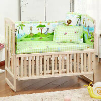5 Pcs Baby Nursery Bedding Set with Bumper Pad for Crib Cot Bed Toddler Bedroom