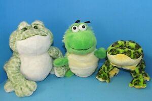Webkinz Lot of 3 Spotted Frog Caterpillar & Bullfrog Plushies Ganz No Code L@@K