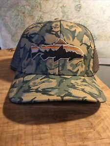 Patagonia Brown Trout Fly Fishing Camo Trucker Hat Spring 2013
