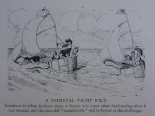 La voile, yachting & Bateau thème une course nautique VIERGE Antique punch Cartoon