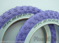 "12"" Kenda Comp III tire set PURPLE w/ WHITE sidewall for scooter striders BMX"