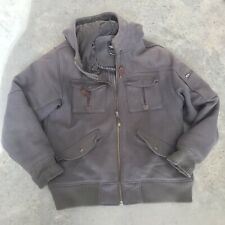 The North Face Grey Wool Blend Mens Hooded Jacket Coat Size XL