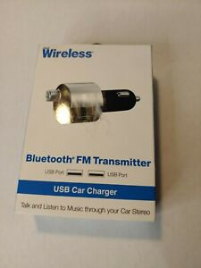 Just Wireless 2-Port USB Bluetooth Car Charger Wireless FM Transmitter
