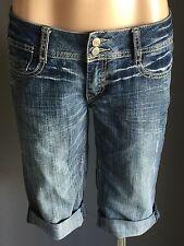 Retro MOSSIMO SUPPLY CO. Blue Denim Skinny Leg Shorts  Size 9/10