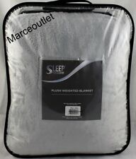 "Sleep Philosophy Premium Soft Plush Weighted Blanket 12 Lbs 60"" x 70"" Gray"