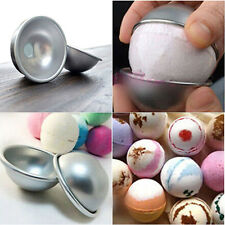 1pair Useful 3D Aluminum Sphere Bath Bomb Cake Pan Tin Baking Xmas Ball Mold