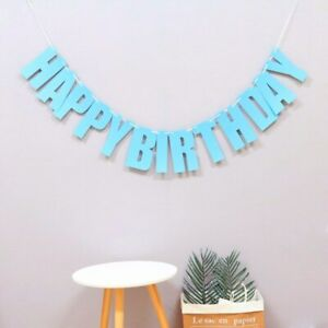 1 set Laser Paper Happy Birthday Letters Banner Birthday Party Baby Shower Decor