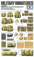 Tamiya 1/35 Modern U.S. Military Equipment Set  35266 W/ Jerry Can & Folding Bed
