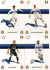 INTER FC  SERIE COMPLETA 27 CARTOLINE 2009- 2010 PROMOCARD TRIPLETE