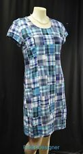 North Style Patchwork Plaid Dress shabby boho distressed cotton chic Size 8 NEW