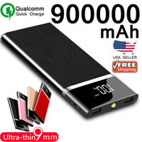 900000mAh Ultra-thin Portable Power Bank External Battery Charger Fast Charging