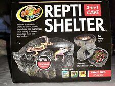"Repti Shelter 3-In-1 Cave Small 6"" Reptile Hide Rocks gecko snake Pet Rock"