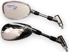 Oval Chrome Motorbike Wing Mirrors Fit Suzuki GSF 600 / 650 / 1200 / 1250 Bandit